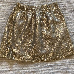 J Crew gold sequin skirt with pockets